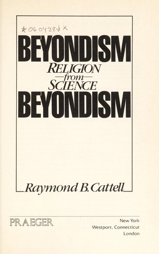 Beyondism : religion from science by