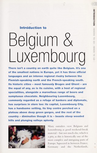 Belgium & Luxembourg by Martin Dunford