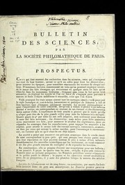 Cover of: Bulletin des sciences