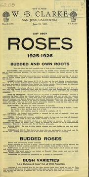 Cover of: List 2507 roses, budded and own roots | W.B. Clarke (Firm)