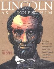 Cover of: Lincoln as I Knew Him