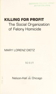 Cover of: Killing for profit