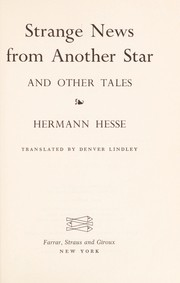 Cover of: Strange news from another star: and other stories