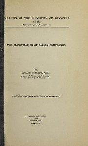 Cover of: The classification of carbon compounds