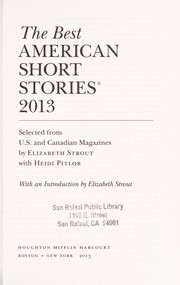 Cover of: The best American short stories, 2013
