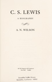 Cover of: C.S. Lewis | A. N. Wilson