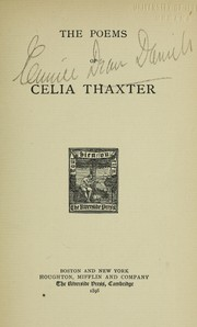 Cover of: The poems of Celia Thaxter