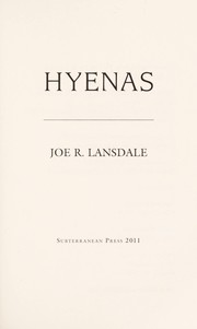 Cover of: Hyenas