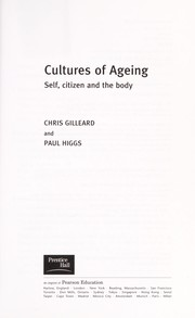 Cover of: Cultures of ageing