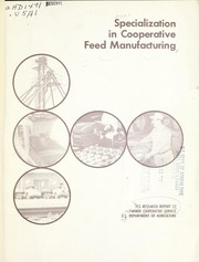 Cover of: Specialization in cooperative feed manufacturing