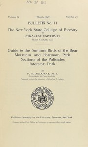Cover of: Guide to the summer birds of the Bear Mountain and Harriman Park sections of the Palisades Interstate Park