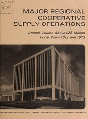 Cover of: Major regional cooperative supply operations