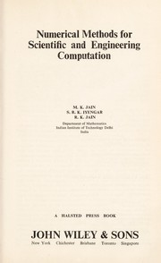Cover of: Numerical methods for scientific and engineering computation | Jain, M. K.