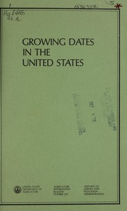 Cover of: Growing dates in the United States