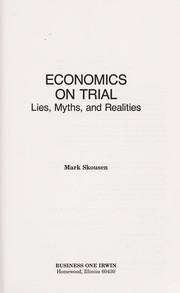 Cover of: Economics on trial | Mark Skousen