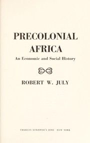 Cover of: Precolonial Africa