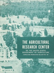 Cover of: The Agricultural Research Center of the United States Department of Agriculture. |