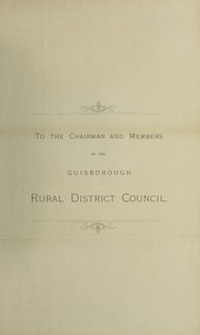 Cover of: [Report 1894] | Guisborough Union Combined District Councils