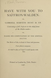 Cover of: Have with you to Saffron-Walden