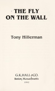 Cover of: The Fly on the Wall (Gk Hall Large Print Book Series) | Tony Hillerman