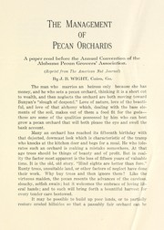 Cover of: The management of pecan orchards