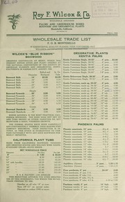 Cover of: Wholesale trade list | Roy F. Wilcox & Co