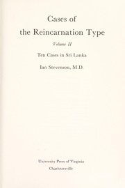 Cover of: Cases of the Reincarnation Type