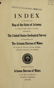 Cover of: Index to accompany the map of the state of Arizona on a scale of eight miles to the inch