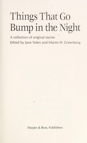 Cover of: Things That Go Bump in the Night: A Collection of Original Stories