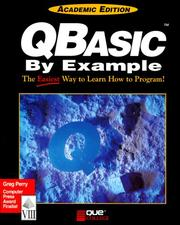 Cover of: Qbasic by Example (Programming Series (Carmel, Ind.).) | Greg M. Perry