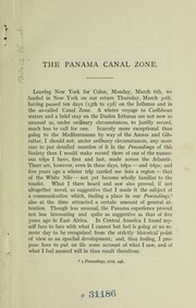 Cover of: The Panama Canal Zone