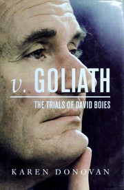 Cover of: v. Goliath: the trials of David Boies