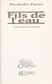 Cover of: Fils de l'eau