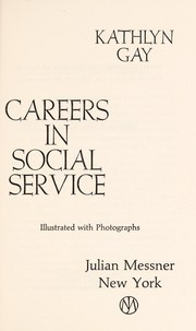 Cover of: Careers in social service