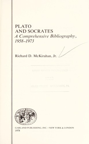 Plato and Socrates by Richard D. McKirahan