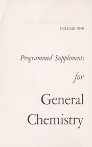 Cover of: Programmed supplements for general chemistry