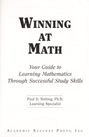 Cover of: Winning at math | Paul D. Nolting