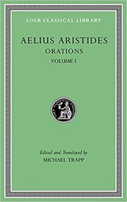 Cover of: Aristides: Orations, Volume I (Loeb Classical Library)