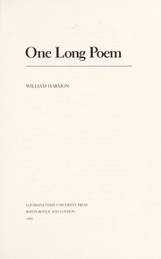 Cover of: One long poem