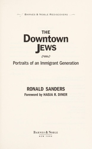 The downtown Jews by Ronald Sanders