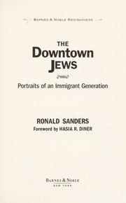 Cover of: The downtown Jews | Ronald Sanders