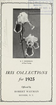 Cover of: Iris collections for 1925 | Robert Wayman (Firm)