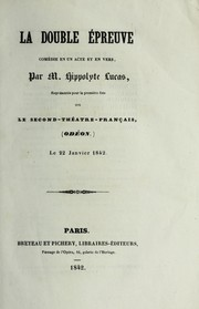 Cover of: La double e preuve