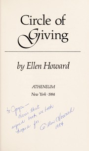 Cover of: Circle of giving | Ellen Howard