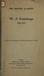 Cover of: W. J. Courthope
