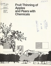 Fruit thinning of apples and pears with chemicals by Max W. Williams