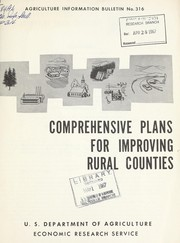 Cover of: Comprehensive plans for improving rural counties