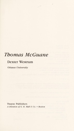Thomas McGuane by Dexter Westrum