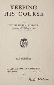 Cover of: Keeping his course | Ralph Henry Barbour