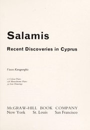 Cover of: Salamis; recent discoveries in Cyprus